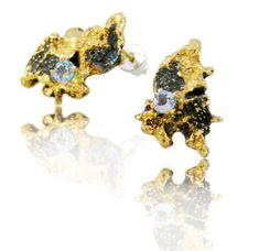 Out,of,the,Sea,Earrings,sea earrings, silver earrings, sterling silver, gold plated, modern earrings, contemporary earrings, artistic earrings, nature earrings