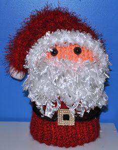 Loom knit Santa Toilet Paper Cover!