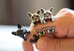 Ringe - Französische Bulldogge Ring ♥ Verstellbar - ein Designerstück von ISTANBLUE bei DaWanda