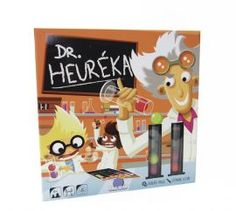 Eureka has important experiments for you to complete in Blue Orange Games Dr. Pick a challenge card, 3 test tubes, and 6 colorful balls. Move your materials from tube to tube without dropping them to solve his scientific formula. Games To Buy, All Games, Games For Kids, Children Games, Bazar Bizarre, Orange Games, Logic Games, Fun Board Games, Toys