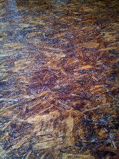 OSB Sheets as flooring - sanded, stained and polyurethaned!