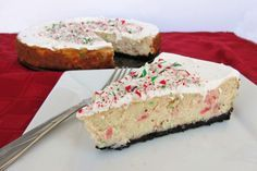 Bake cheesecake for 45 to 50 minutes, or until center is almost set. Run a knife around the rim of the pan to loosen the cake so that it doesn't crack as it cools. Let cool at room temperature, then refrigerate for at least 4 hours.