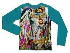 Petrol 'Horse' shirt - Stones and Bones - Belleketrek.be - Online kinderkleding