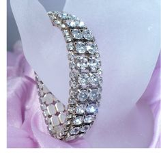 Awesome, HUGE BLING vintage rhinestone bracelet! Hate to give it up...http://www.etsy.com/listing/92470171/vintage-rhinestone-bracelet-wide-huge