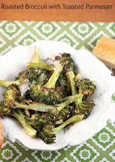 So Good - Roasted Broccoli with Toasted Parmesan Cheese - Low Calorie, Low Fat, Healthy Dinner Recipe