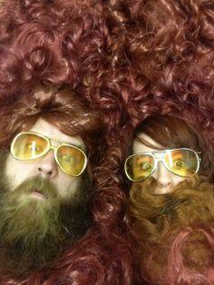 """Paul Outlaw & Jen Catron """"selfies""""."""