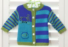 Brei patroon voor Cathy Cat Baby vest met behulp van Patons garens