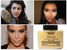 Ben Nye Powder in Banana is the BEST product for dark under eye circles, uneven skin tones and for people like me who want to lightly contour your face with little to no effort and time. Kim Kardashian blogged about this and my dark circles are concealed just as good as hers! Use a flat powder brush, dab on your T zone under eyes, let sit for 5 minutes and brush outwards and blend.  | KonaTans.com