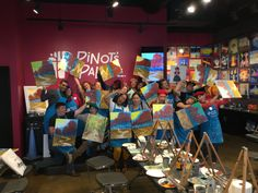 Sippin' Sangria, painting and meeting fellow entrepreneurs. Thanks BNI Networking for spending the afternoon with us.