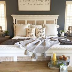 Most Beautiful Rustic Bedroom Design Ideas. You couldn't decide which one to choose between rustic bedroom designs? Are you looking for a stylish rustic bedroom design. We have put together the best rustic bedroom designs for you. Find your dream bedroom. Modern Farmhouse Bedroom, Farmhouse Master Bedroom, Master Bedroom Design, Dream Bedroom, Home Decor Bedroom, Bedroom Ideas, Rustic Farmhouse, Farmhouse Style, Bedroom Furniture