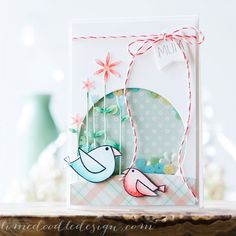 Gorgeous Sequin shaker card by Debby Hughes using Simon Says Stamp Exclusives.  April 2014