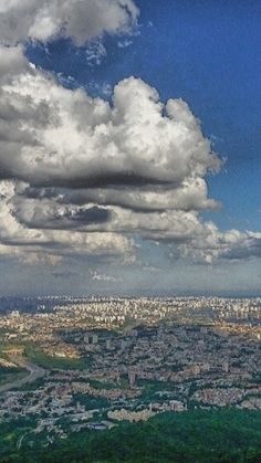 Tropical skies above São Paulo