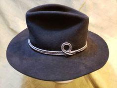 dea1b5065fe47 Resistol Chaparall Cowboy 4X Beaver Fur Felt Black Western Hat 7 3 8 (59  cm) Long Oval Self Conforming