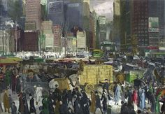 new york street scene by george bellows