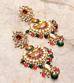 Multicoloured Embellished Earrings
