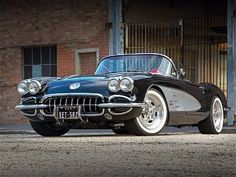 1958 Chevrolet Corvette. Back when they made beautiful cars