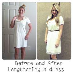 lengthen a dress