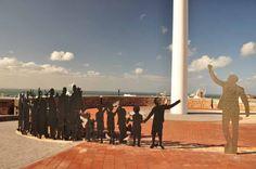 The Nelson Mandela Voting Line sculpture. http://eagerjourneys.com/nelson-mandela-bay/