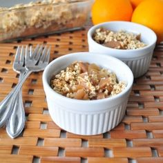 Apple Cobbler- This healthy dessert is made with no oil and very little sugar.