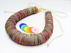 Paper necklace Paper jewelry Colorful Rainbow by TheCreativeBee                                                                                                                                                                                 More