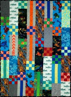 Baby aardvark from Aardvark quilts Kid Quilts, Strip Quilts, Easy Quilts, Rail Fence, Quilt Making, Fabric Patterns, Fabric Design, Hand Embroidery, Quilting