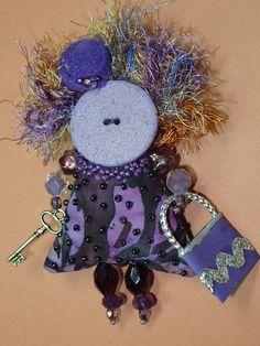 Handmade Purple Whimsy Art Doll