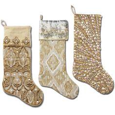 Kim Seybert Plaid Stockings | Kim Seybert Holiday Entertaining ...
