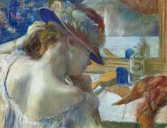 In Front of the Mirror, Edgar Degas