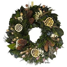 Preserved English Holiday Wreath