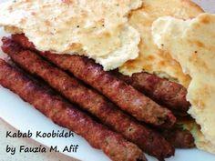 Kabab Koobideh | Fauzia's Kitchen Fun  INGREDIENTS  500gm beef mince 1 medium onion 1 small bunch coriander (leaves with stems) 2 green chilies 1 egg, beaten 1 tsp. garlic paste 1 tbsp. sumac powder (optional) ½ tsp. turmeric powder ½ tsp. salt 1 tsp. black pepper powder