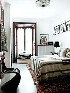 Bohemian bedroom style: Source : Arkpad - Elle Decoration February 2013 (UK) - Birgitta Wolfgangdrejer