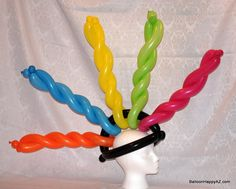 balloon hat mohawk funny twister arizona artist