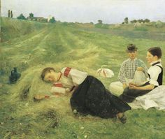 Csók, István -Hay-making, Hungarian National Gallery, Budapest, 1890
