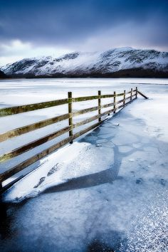 Frozen Derwentwater, Lake District