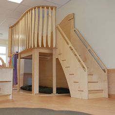 Now installed in many classrooms, these play lofts are a favourite of all children. From being a fort, to a climbing tree to the enchanted forest that they create underneath, the possibilities for play and imagination are endless. There are two versions of this loft. One has loft has been designed for use in licensed…