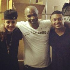 Justin Bieber, Mike Tyson and Alfredo Flores