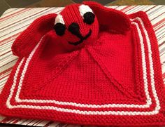Free knitting pattern for Puppy Lovey Blanket and more blanket buddy knitting patterns