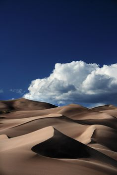 Clouds over Great Sand Dunes National Park, Colorado The Places Youll Go, Places To See, Beautiful World, Beautiful Places, All Nature, Parcs, Belle Photo, Beautiful Landscapes, Wonders Of The World