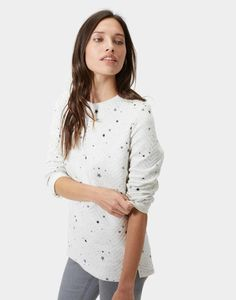 Isla quilted Grey Star Sweatshirt  34138826c