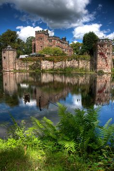 Caverswall Castle ~ is a privately owned early century mansion built upon a castlellar style on the foundation and within the walls of a century medieval castle in Staffordshire, England Beautiful Castles, Beautiful Buildings, Beautiful Places, Palaces, Castle Ruins, Medieval Castle, Castles In England, English Castles, England And Scotland