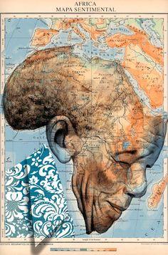 Nelson Mandela - Atlas by Fernando Vicente, via Behance Nelson Mandela, Arte Mandela, African Art, Black Art, Oeuvre D'art, Les Oeuvres, Modern Art, Contemporary Art, Art Boards