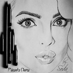 Another True To Life Pencil Sketch Of PRIYANKA CHOPRA By Artist SEDA-That Is Bound To Leave You Breathless!!