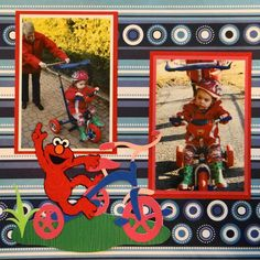 tricycle scrapbook page - Google Search