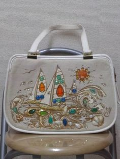 Enid Collins SAILING canvas bag