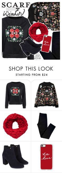 """""""Winter Scarf Style"""" by vanjazivadinovic ❤ liked on Polyvore featuring J Brand, Monsoon, Casetify, scarf, polyvoreeditorial and zaful"""
