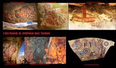 L'arte rupestre dei Chumash. Pittogrammi e petroglifi sono comuni a molte etnie della California, la tradizione delle pitture rupestri è prosperata fino al XIX secolo. L'arte rupestre dei Chumash è considerata una delle più elaborate tradizioni artistiche della regione. I loro pittogrammi rappresentanti esseri umani, animali e figure astratte sono stati eseguiti con tinture dai colori particolarmente vivi.