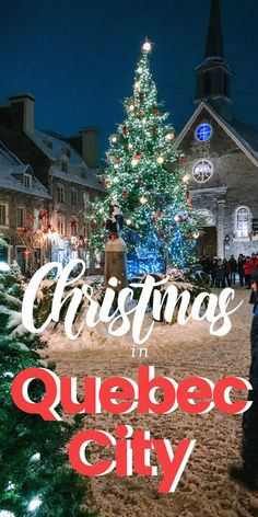 Everything you need to know to spend Christmas in Quebec City Canada. What to do what to eat where to stay and how to celebrate the season in style! Quebec City Christmas, Canada Christmas, Christmas Travel, Holiday Travel, Christmas Events, Magical Christmas, Christmas Christmas, Jamberry Christmas, Holiday Trip
