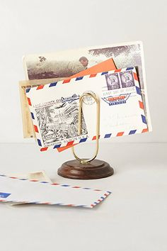 Paper Clip Letter Holder - the new modern letter holder #DreamOffice @Church Hill Classics