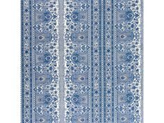 Brunschwig & Fils DIGBY S TENT LINEN & COTTON PRINT MOROCCAN BLUE BR-79743.222 - Brunschwig & Fils - Bethpage, NY