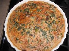 Vegan Frittata - made with garbanzo bean flour (finish the last 2 minutes under the broiler to brown the top)